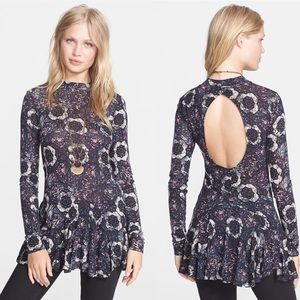 Free People Annabelle Printed Mini Tunic Dress